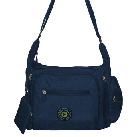 Navy Gabbie Medium Shoulder Bag