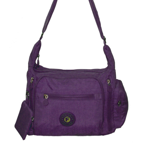 Purple Gabbie Medium Shoulder Bag