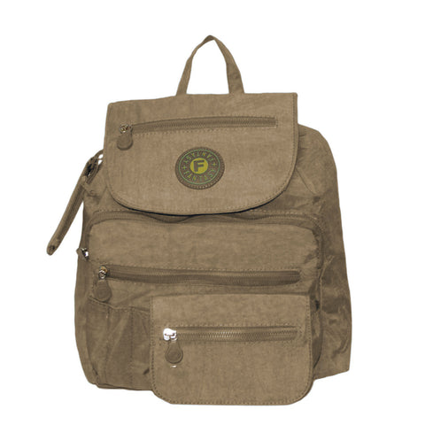 Beige Small City Backpack