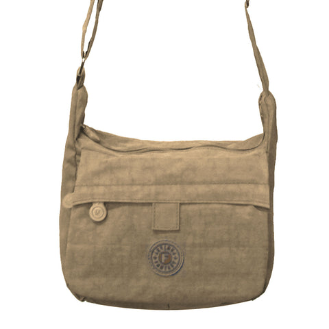 Beige Small Deena Cross Body Bag