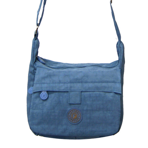 Small Light Blue Deena Cross Body Bag
