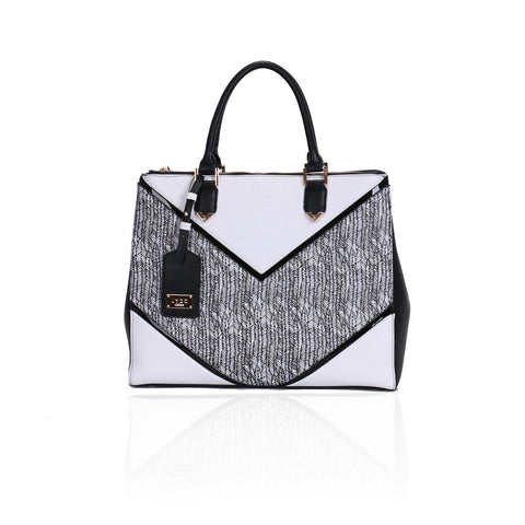LYDC Tribeca Grande White Tote bag