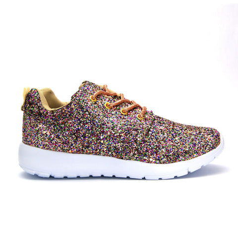 Multi-Colour Glitter trainers