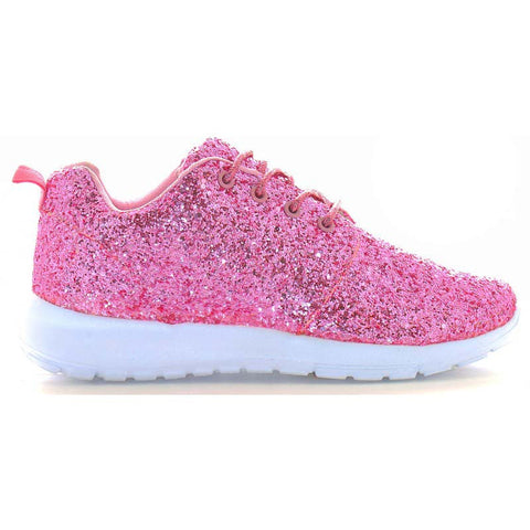 Pink Glitter trainers