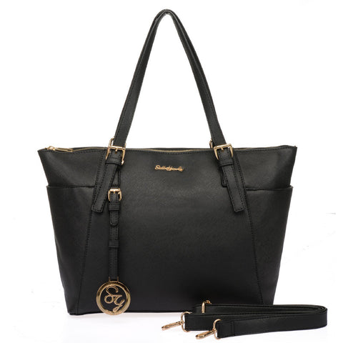 Sally Young Black Jet Set Tote Bag