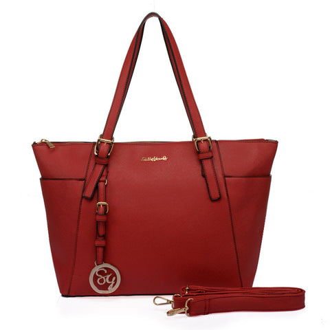 Sally Young Red Jet Set Tote Bag