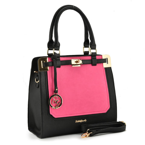 Sally Young Black and Pink Two Toned bag