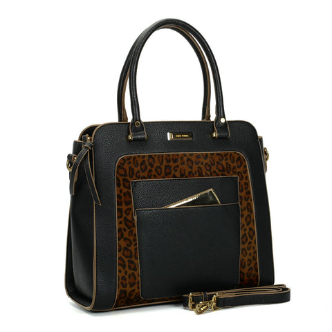 Sally Young Camel and Black Tote Bag