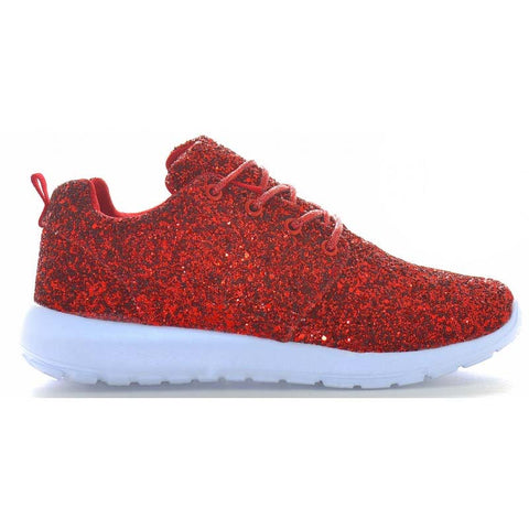 Red Glitter trainers