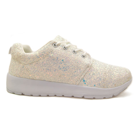 Glitter Trainers White