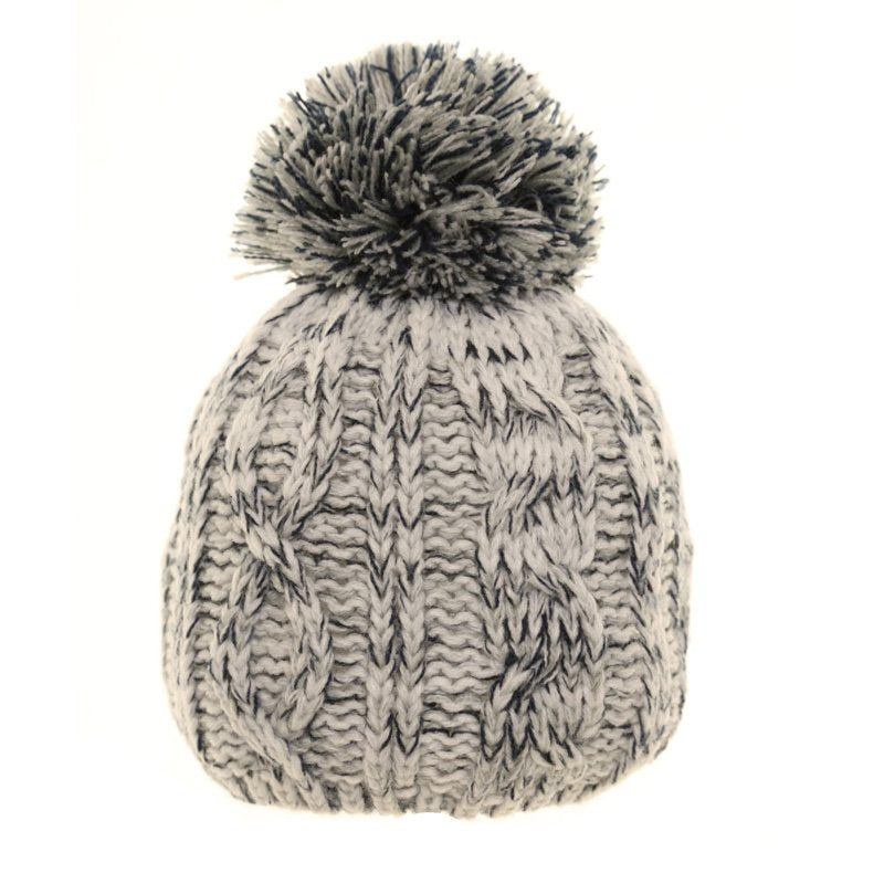 00e63ffdf Grey Baby Boys Two Tone Knitted Bobble Hat
