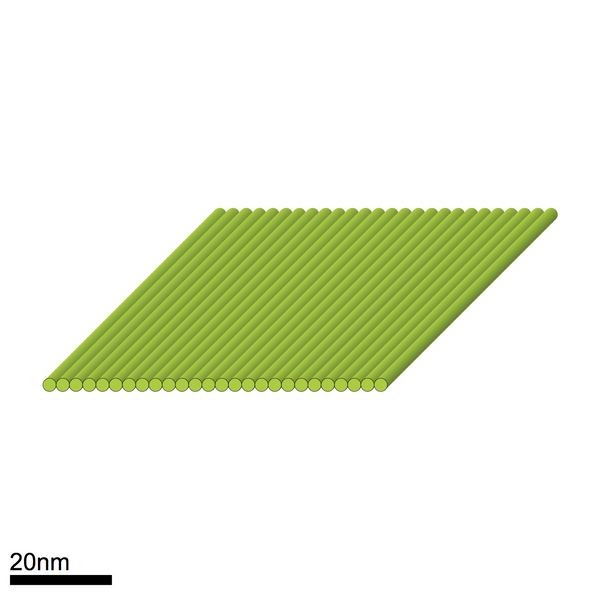 Flat sheet - staple mixture