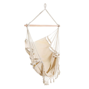 Gardeon Hammock Swing Chair - Cream- (ST116)
