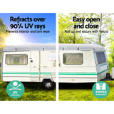 4 Layers 4 Side Open Caravan Campervan Cover Straps 16-18FT