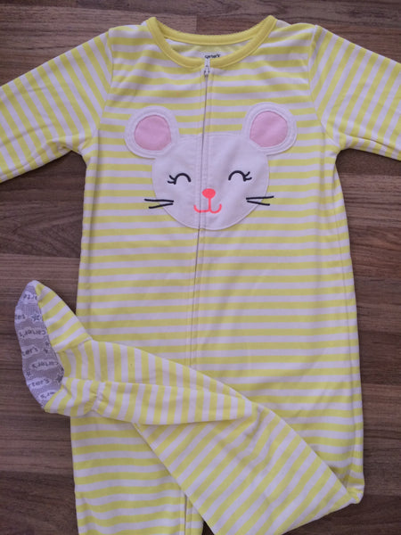 One Piece Full-Zip Pajamas (Girls Size 5)
