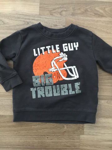 """Big Trouble"" Sweater (Boys Size 2)"