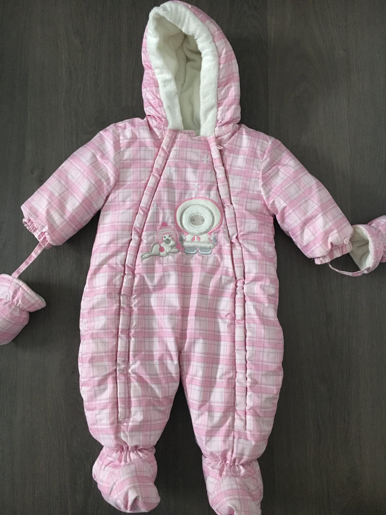 2a84db460 One Piece Full Zip Hooded Snow Suit (Girls Size 9-12M) – Gia Kidz