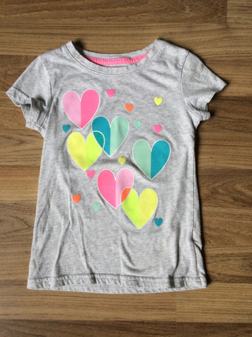 Colorful Hearts T-Shirt (Girls Size 4-5T)
