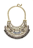 Statement Bib necklaces Brass and Blues