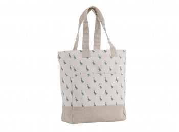 Duck print cotton shopper bag