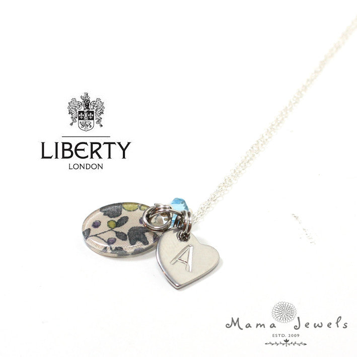 Liberty of london silver birthstone pendant