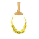Tani YELLOW berries wooden layered necklace