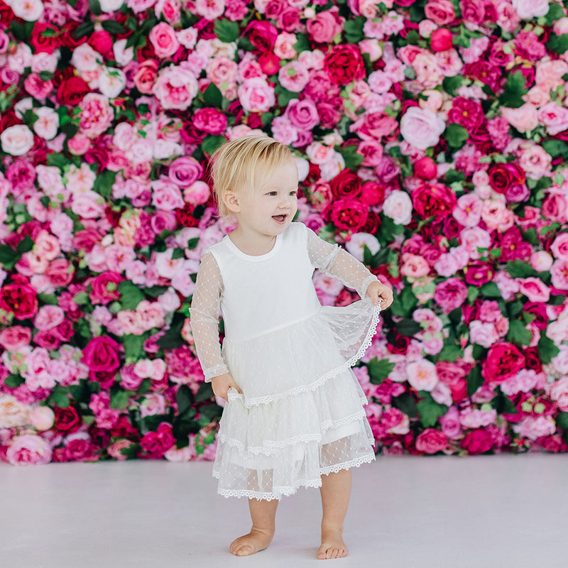Buy Poppy L/S Tiered Tulle Dress - Designer Kidz | Special Occasions, Party Wear & Weddings  | Sizes 000-16 | Little Girls Party Dresses, Tutu Dresses, Flower Girl Dresses | Pay with Afterpay | Free AU Delivery Over $80