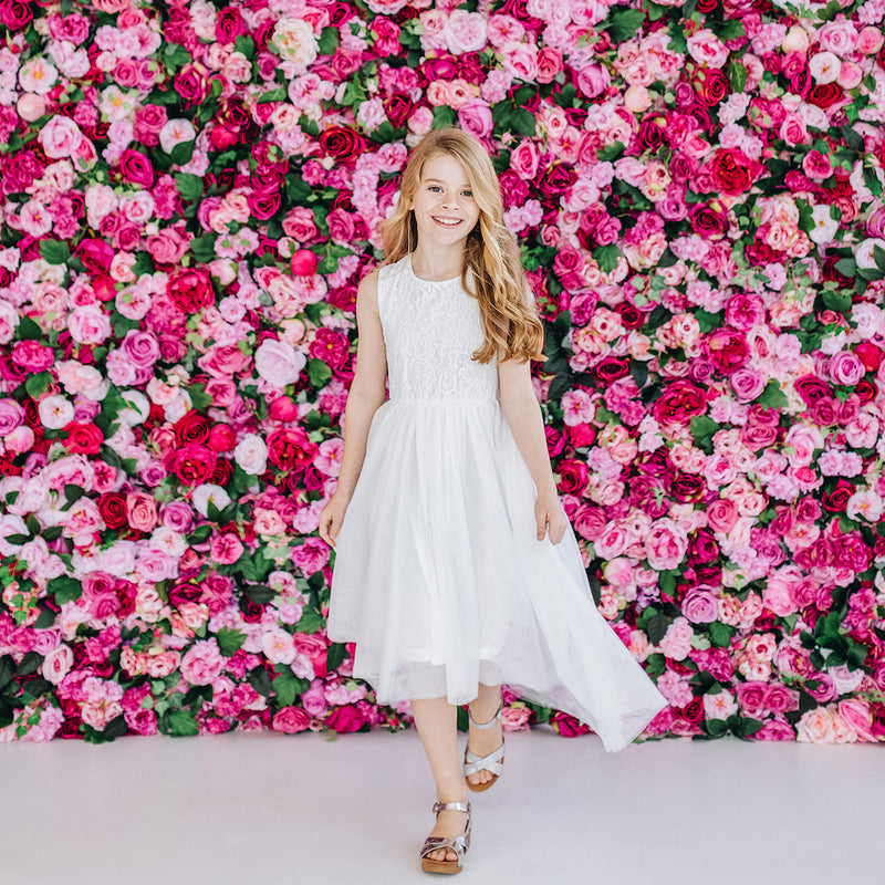 Buy Delilah Lace Dress - Ivory - Designer Kidz | Special Occasions, Party Wear & Weddings  | Sizes 000-16 | Little Girls Party Dresses, Tutu Dresses, Flower Girl Dresses | Pay with Afterpay | Free AU Delivery Over $80