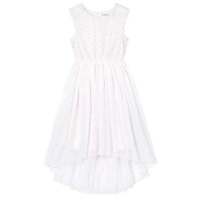 Buy Delilah S/S Lace Dress - Ivory - Designer Kidz | Special Occasions, Party Wear & Weddings  | Sizes 000-16 | Little Girls Party Dresses, Tutu Dresses, Flower Girl Dresses | Pay with Afterpay | Free AU Delivery Over $80