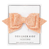 Sparkle Bow Hair Clip - Rose Gold