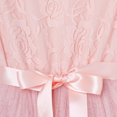 Buy Libby Lace S/S Tutu Dress  - Tea Rose - Designer Kidz | Special Occasions, Party Wear & Weddings  | Sizes 000-16 | Little Girls Party Dresses, Tutu Dresses, Flower Girl Dresses | Pay with Afterpay | Free AU Delivery Over $80
