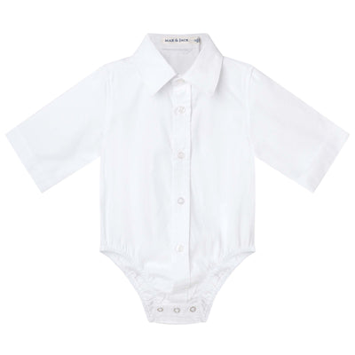 Jackson Formal Romper/S - White