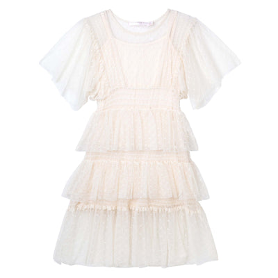 Buy Tasha Tiered Mesh Dress - Designer Kidz | Special Occasions, Party Wear & Weddings  | Sizes 000-16 | Little Girls Party Dresses, Tutu Dresses, Flower Girl Dresses | Pay with Afterpay | Free AU Delivery Over $80