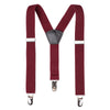 Bradley Boys Suspenders - Burgundy