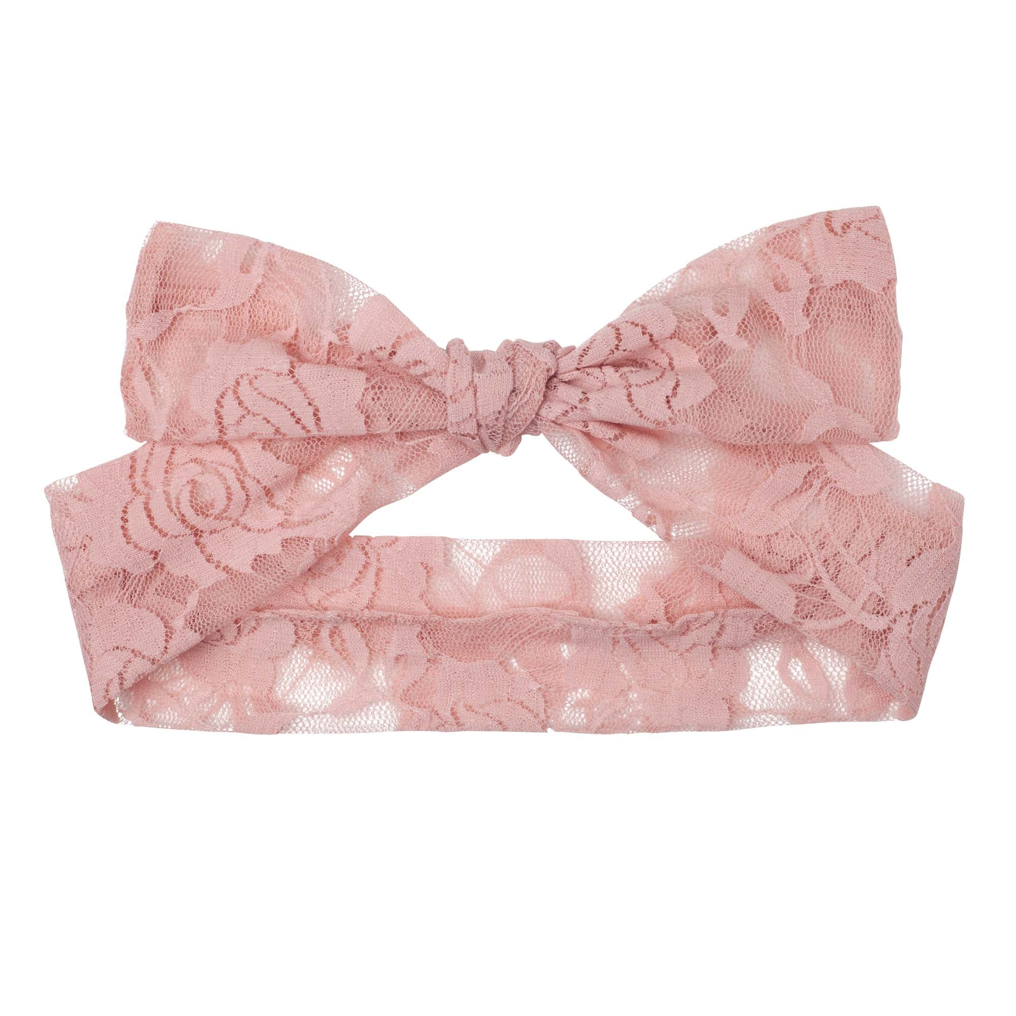 Candi Lace Headband - Tea Rose