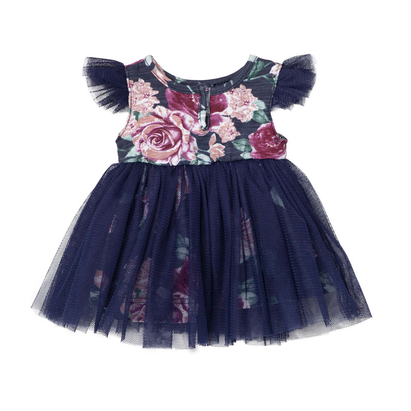 Audrey Floral Doll Dress - Navy