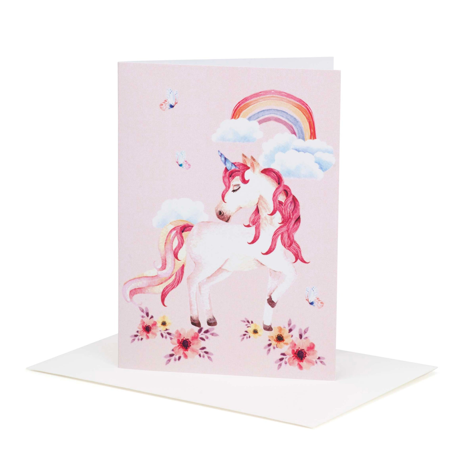 Buy Rainbow Unicorn Greeting Card - Designer Kidz | Special Occasions, Party Wear & Weddings  | Sizes 000-16 | Little Girls Party Dresses, Tutu Dresses, Flower Girl Dresses | Pay with Afterpay | Free AU Delivery Over $80