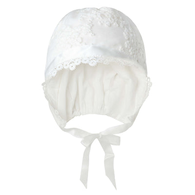 Buy Sophia Christening Bonnet - Ivory - Designer Kidz | Special Occasions, Party Wear & Weddings  | Sizes 000-16 | Little Girls Party Dresses, Tutu Dresses, Flower Girl Dresses | Pay with Afterpay | Free AU Delivery Over $80