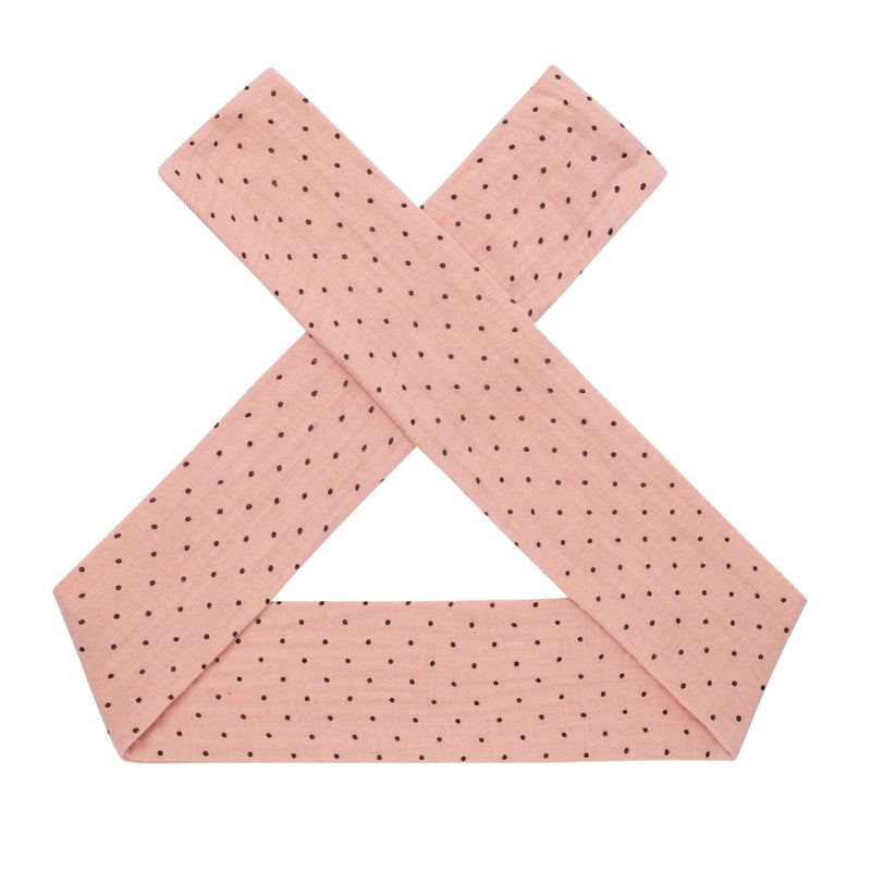 Georgia Spot Headband - Dusty Pink