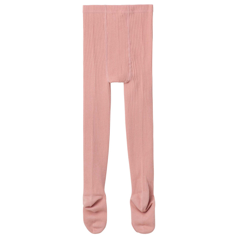 Rib Tights - Tea Rose