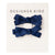Mini Pigtails Hair Clips - Navy