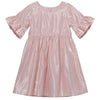 Buy Lined Lurex Dress - Metallic Pink - Designer Kidz | Special Occasions, Party Wear & Weddings  | Sizes 000-16 | Little Girls Party Dresses, Tutu Dresses, Flower Girl Dresses | Pay with Afterpay | Free AU Delivery Over $80