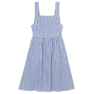 Buy Midi Dress with Straps - Seaside Stripe - Designer Kidz | Special Occasions, Party Wear & Weddings  | Sizes 000-16 | Little Girls Party Dresses, Tutu Dresses, Flower Girl Dresses | Pay with Afterpay | Free AU Delivery Over $80