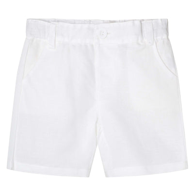 Buy Toby Linen Shorts - White - Designer Kidz | Special Occasions, Party Wear & Weddings  | Sizes 000-16 | Little Girls Party Dresses, Tutu Dresses, Flower Girl Dresses | Pay with Afterpay | Free AU Delivery Over $80