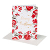 Buy Pearl Red Floral Christmas Greeting Card - Designer Kidz | Special Occasions, Party Wear & Weddings  | Sizes 000-16 | Little Girls Party Dresses, Tutu Dresses, Flower Girl Dresses | Pay with Afterpay | Free AU Delivery Over $80