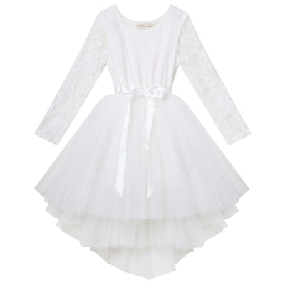 Buy Candi L/S Lace Tutu Dress - Ivory - Designer Kidz | Special Occasions, Party Wear & Weddings  | Sizes 000-16 | Little Girls Party Dresses, Tutu Dresses, Flower Girl Dresses | Pay with Afterpay | Free AU Delivery Over $80