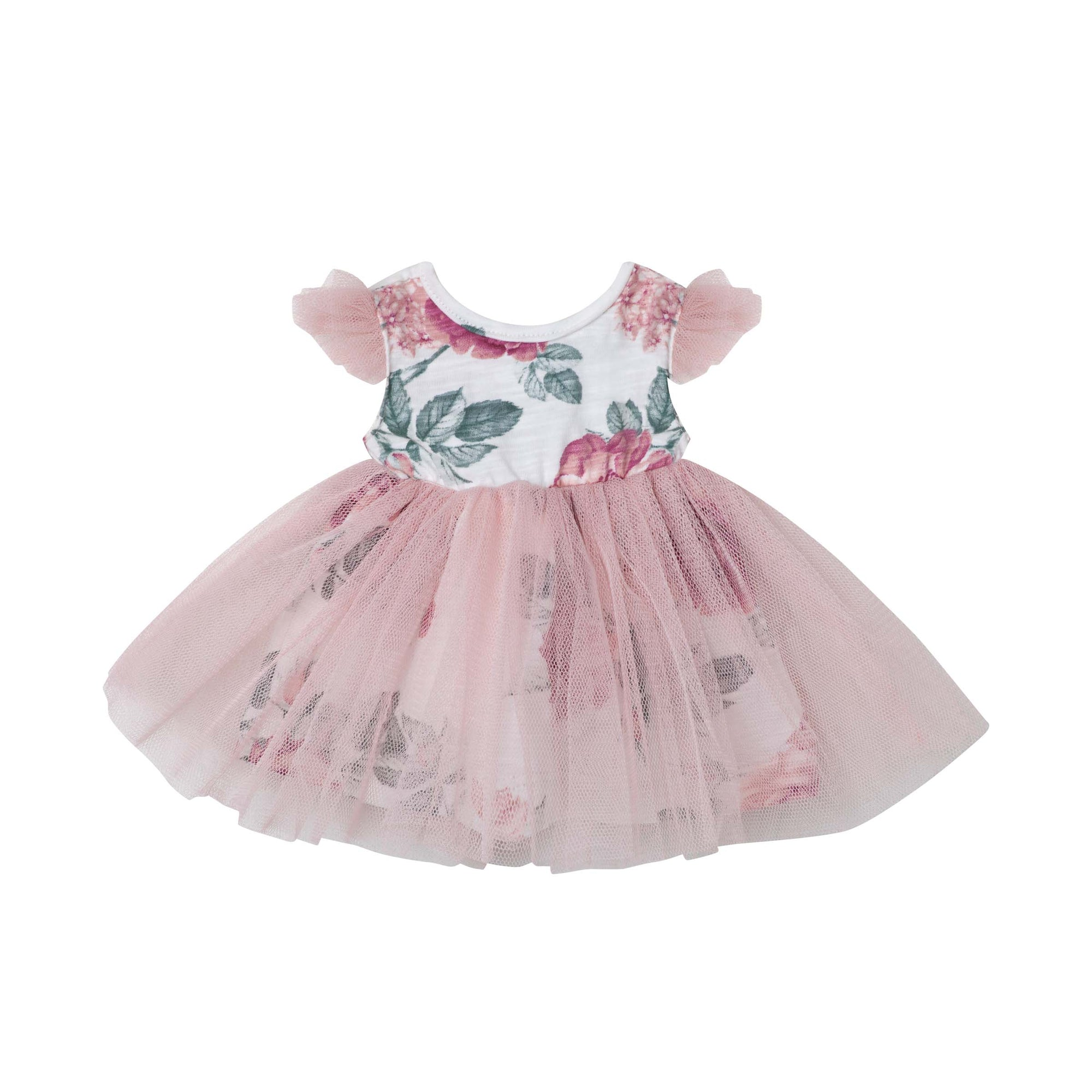 Buy Audrey Floral Doll Dress - Tea Rose - Designer Kidz | Special Occasions, Party Wear & Weddings  | Sizes 000-16 | Little Girls Party Dresses, Tutu Dresses, Flower Girl Dresses | Pay with Afterpay | Free AU Delivery Over $80