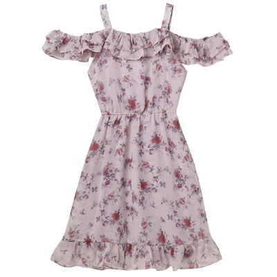 Taylor Frill Dress - Dusty Pink - Designer Kidz
