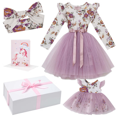 Buy Pearl Floral Tutu Dress Gift Box - Truffle - Designer Kidz | Special Occasions, Party Wear & Weddings  | Sizes 000-16 | Little Girls Party Dresses, Tutu Dresses, Flower Girl Dresses | Pay with Afterpay | Free AU Delivery Over $80