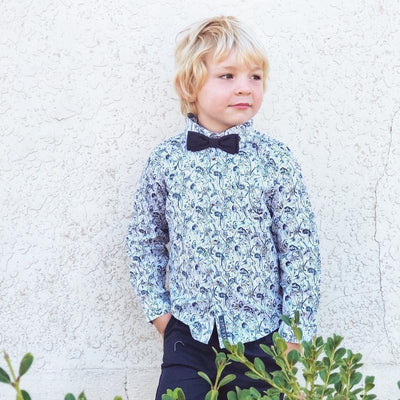Buy Byron Shirt L/S - Navy - Designer Kidz | Special Occasions, Party Wear & Weddings  | Sizes 000-16 | Little Girls Party Dresses, Tutu Dresses, Flower Girl Dresses | Pay with Afterpay | Free AU Delivery Over $80